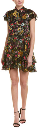 Alice + Olivia Moore Silk-Blend Tunic Dress