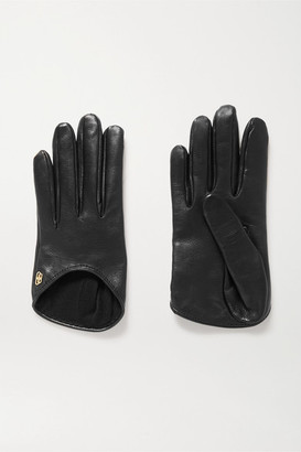 Balenciaga Embellished Leather Gloves - Black