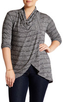 Bobeau Hacci One Button Cardigan (Plus Size)