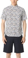 Club Monaco Short Sleeve Button Down Floral Shirt
