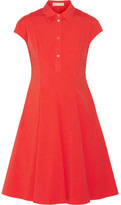 Michael Kors Stretch-cotton Poplin Shirt Dress - Crimson