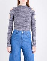 Zoe Jordan Urey high-neck wool and cashmere-blend top