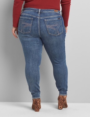 Lane Bryant Seven7 Low-Rise Skinny Jean - Medium Wash