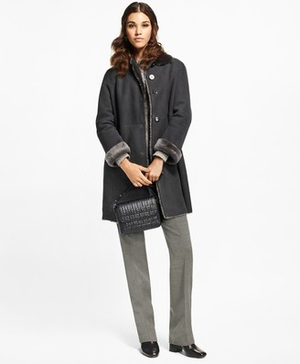 Brooks Brothers Shearling Cocoon Coat