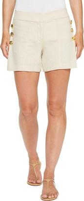 XOXO Women's Linen Side Button Short