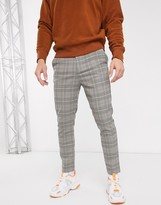 Mennace tapered trousers in check
