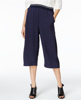 DKNY Pull-On Cropped Wide-Leg Pants