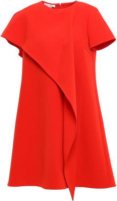 Oscar de la Renta Layered Draped Crepe Mini Dress