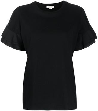Alexander McQueen ruffled sleeves T-shirt