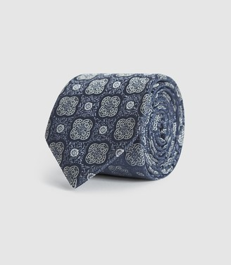 Reiss Danali - Silk Blend Tie in Navy
