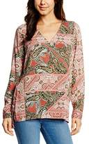 S'Oliver Women's mit Paisleyprint Regular Fit Long Sleeve Blouse