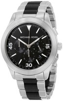 Michael Kors MK8452 Gareth Two-Tone Black Dial Chronograph 43mm Mens Watch