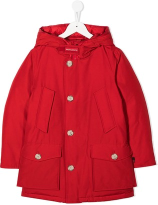 Woolrich Kids Padded Button-Up Coat