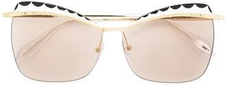 Cat Eye Squared Sunglasses