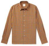 Sandro Checked Cotton-Poplin Shirt