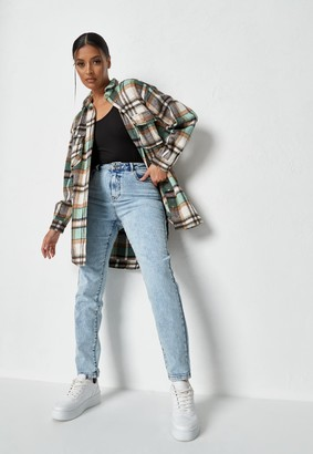 Missguided Tall Blue Acid Wash Highwaisted Mom Jeans