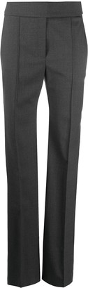 Alexandre Vauthier High-Rise Pintuck Flared Trousers