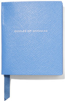 Smythson Premier Oodles Of Doodles Textured-leather Notebook - Blue