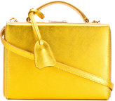 Mark Cross metallic box tote - women - Calf Leather/Leather - One Size