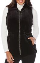 Rafaella Velvet Quilted Puffer Vest