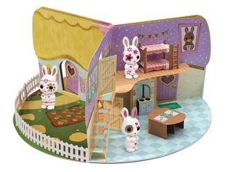 Outset Fuzzikins Cottontail Cottage Colourable Figures