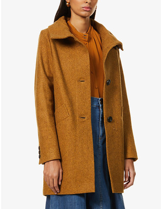 Sessun Chera high-neck recycled wool-blend coat