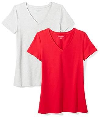 Amazon Essentials 2-Pack Short-Sleeve V-Neck T-Shirt,US S (EU S-M)