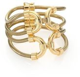 Lanvin Snake Chain Cuff Bracelet