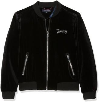 Tommy Hilfiger Girl's Holiday Thkg Velvet Bomber Jacket