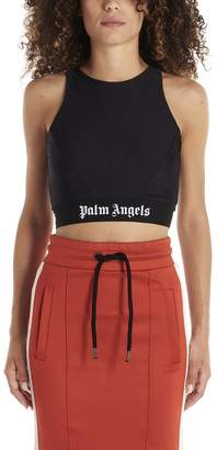 Palm Angels Logo Printed Cropped Top
