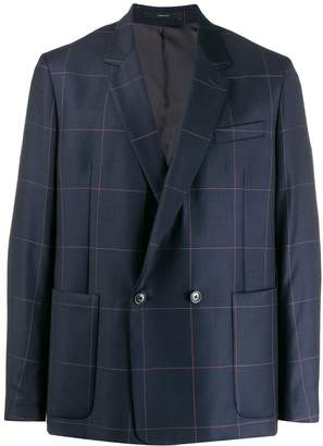 Paul Smith checked double-breasted blazer
