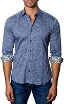 Jared Lang Heathered Sport Shirt, Blue