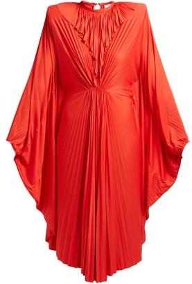 Vetements Sunburst-pleated Jersey Midi Dress - Red
