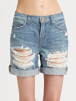 Slouchy Distressed Boyfriend Shorts