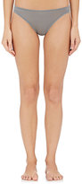 Skin Women's Lace-Trim Cotton Thong-GREEN