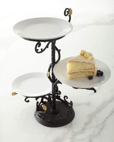 tiered serving plates shopstyle rh shopstyle com