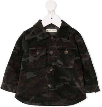 Zhoe & Tobiah Camouflage Print Denim Shirt