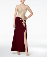 Blondie Nites Juniors' Embellished A-Line Gown