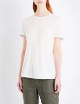 The Kooples Crossover linen-blend T-shirt