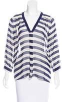 Joie Silk Stripe Blouse w/ Tags