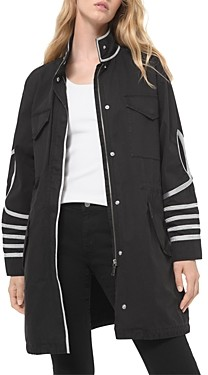 MICHAEL Michael Kors Cotton Applique Trim Jacket