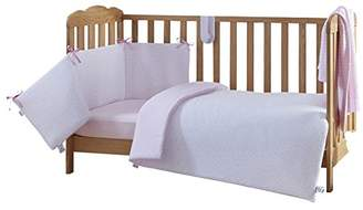 Clair De Lune Cot Bed Set (Pink, Stars and Stripes, 2-Piece)