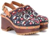 See by Chloe Embroidered denim sandals