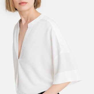 La Redoute Collections Mandarin Collar Blouse