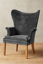 Anthropologie Velvet Wingback Chair