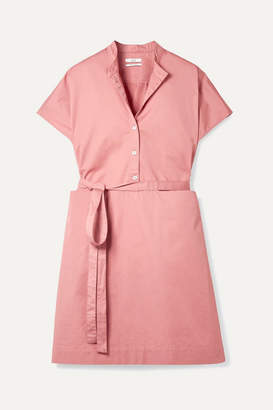 Co Belted Cotton-sateen Dress - Blush