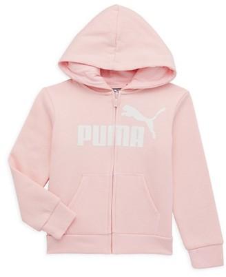 Puma Little Girl's No. 1 Logo Pack Zip-Front Hoodie