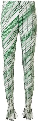 Y/Project Diagonal Stripes Leggings