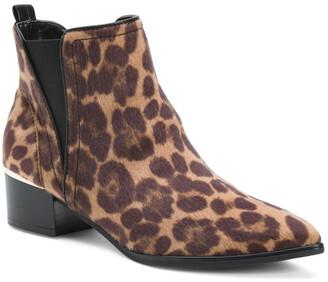 Pointy Toe Leopard Chelsea Booties