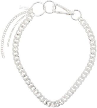 Coup De Coeur Logo Charm Chain Necklace